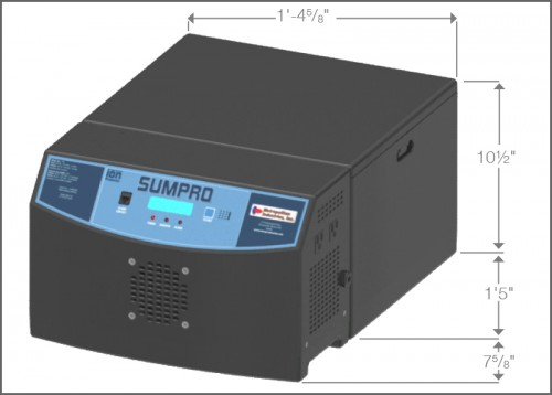 Sumpro Battery Backup System Dimensions